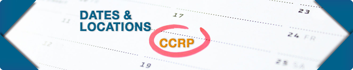 CCRP Dates & Locations