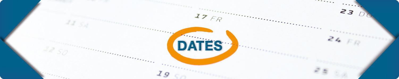 VAHL Dates