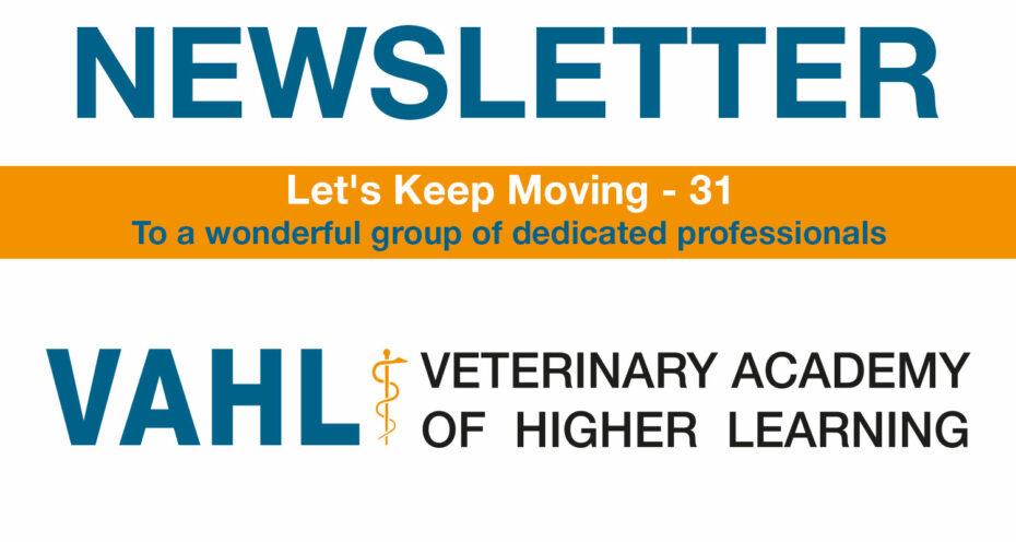 VAHL Newsletter - Let's Keep Moving - 31